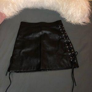 Forever 21 Black Leather Skirt